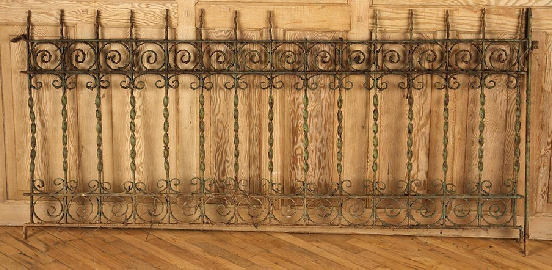 5 PIECES VICTORIAN WROUGHT IRON FENCING - 2