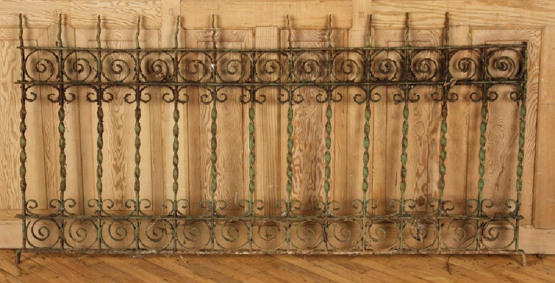 5 PIECES VICTORIAN WROUGHT IRON FENCING - 6