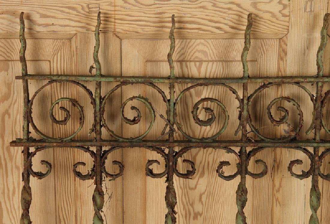 5 PIECES VICTORIAN WROUGHT IRON FENCING - 7