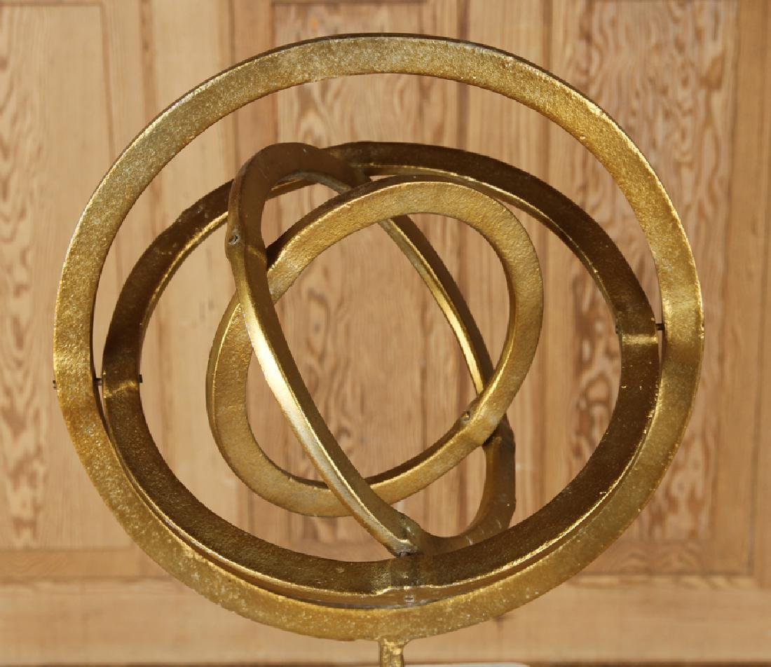 MARBLE AND GILT METAL ARMILLARY SPHERE - 2