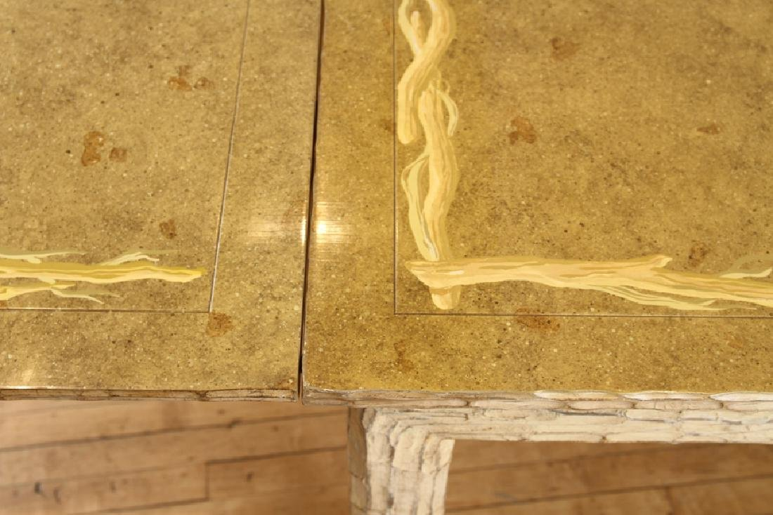 CUSTOM CARVED FAUX BOIS DINING TABLE - 4