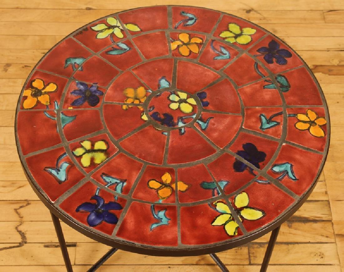 FRENCH IRON GARDEN TABLE TILE TOP CIRCA 1970 - 2