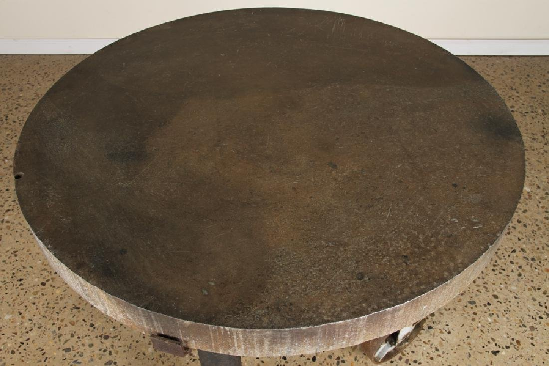 ROUND INDUSTRIAL POTTING TABLE ALUMINUM TOP - 2