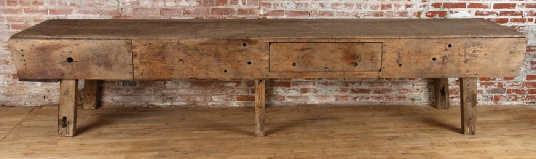LARGE 19TH CENTURY POTTING TABLE