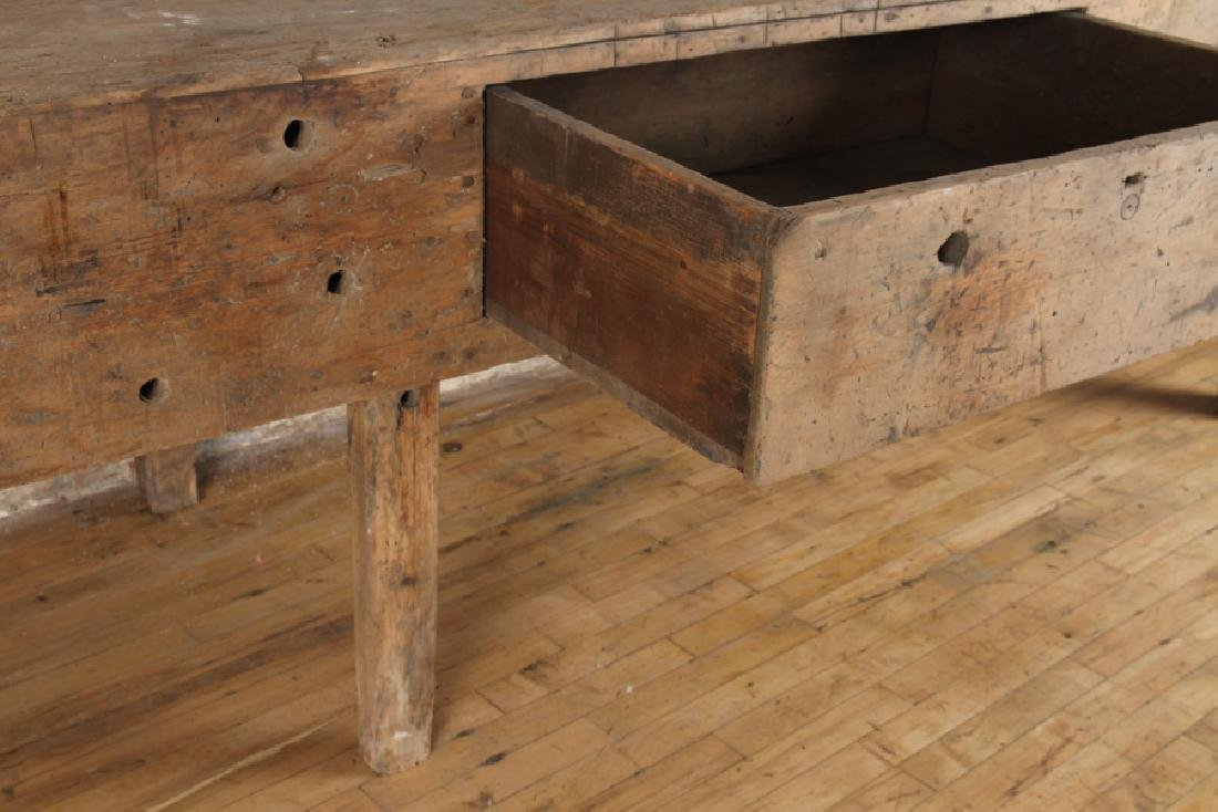 LARGE 19TH CENTURY POTTING TABLE - 4