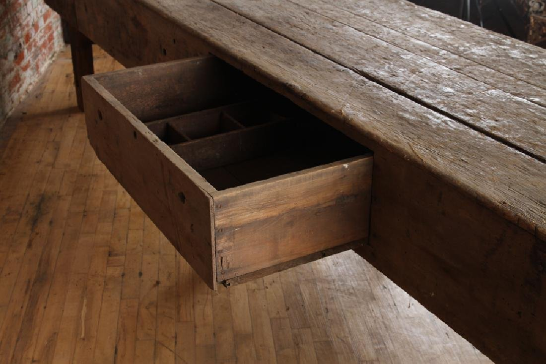 LARGE 19TH CENTURY POTTING TABLE - 6