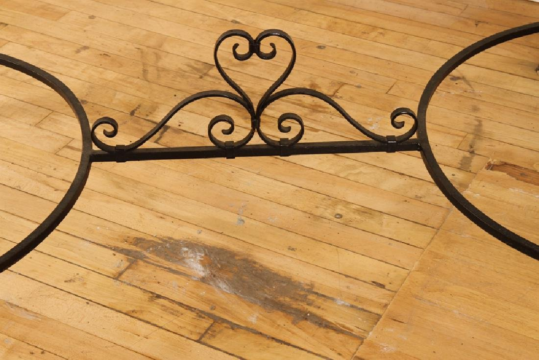 SIGNED FRENCH WROUGHT IRON TILE TOP GARDEN TABLE - 7