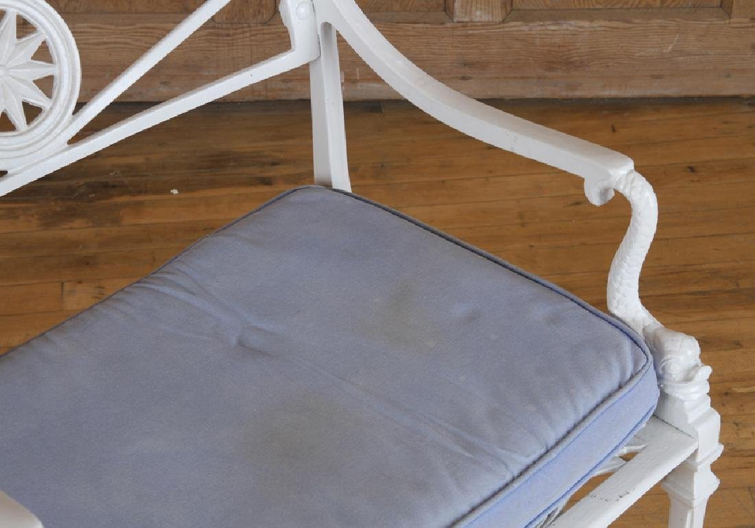 SET 4 NEOCLASSICAL STYLE ALUMINUM PATIO CHAIRS - 4