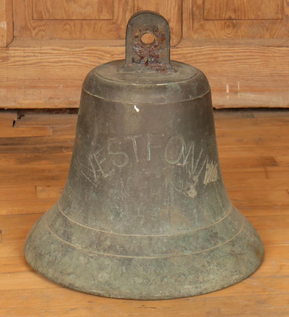 A BRONZE BELL SIGNED VESTFONN