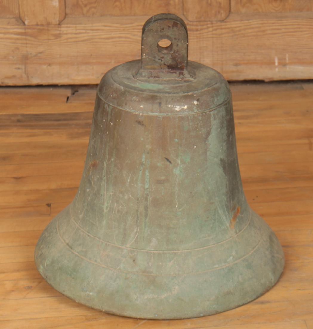 A BRONZE BELL SIGNED VESTFONN - 2