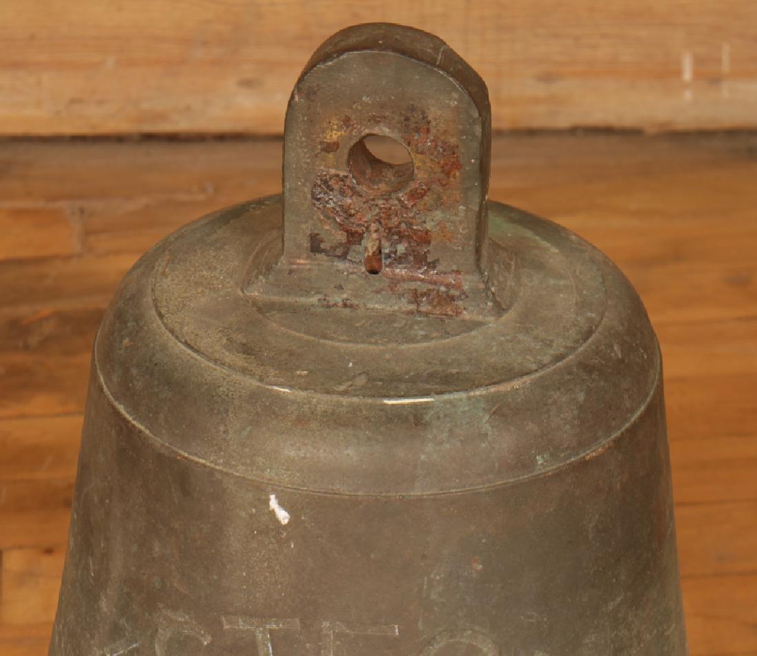 A BRONZE BELL SIGNED VESTFONN - 3
