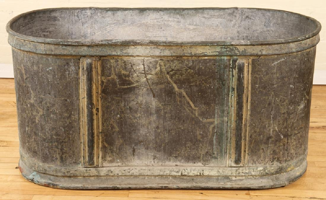 19TH CENTURY  ZINC PLANTER - 2