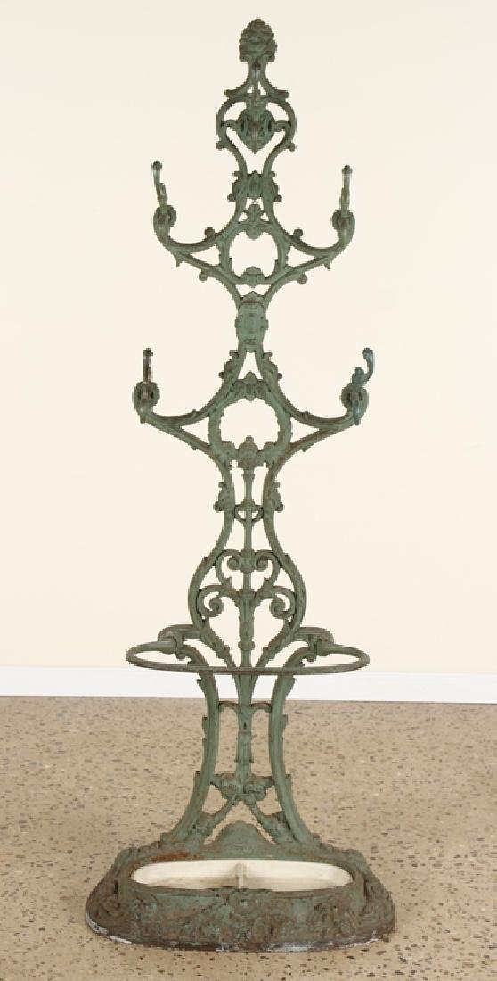 FRENCH CAST IRON COAT RACK UMBRELLA STAND C.1870