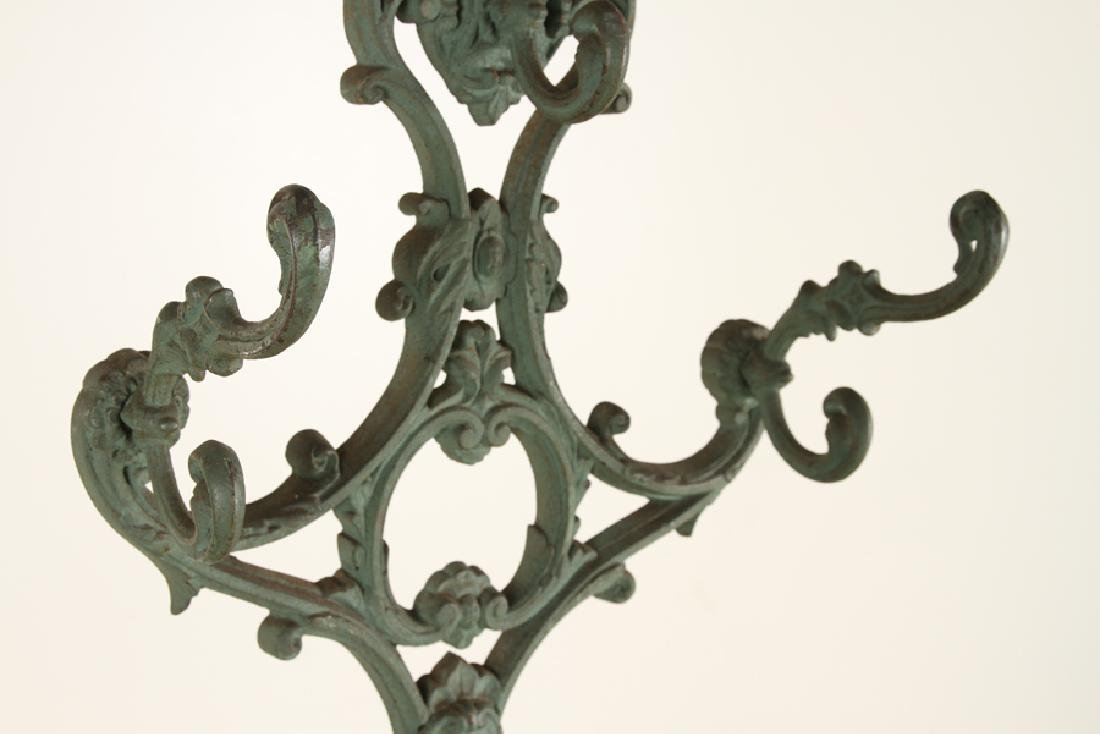 FRENCH CAST IRON COAT RACK UMBRELLA STAND C.1870 - 3