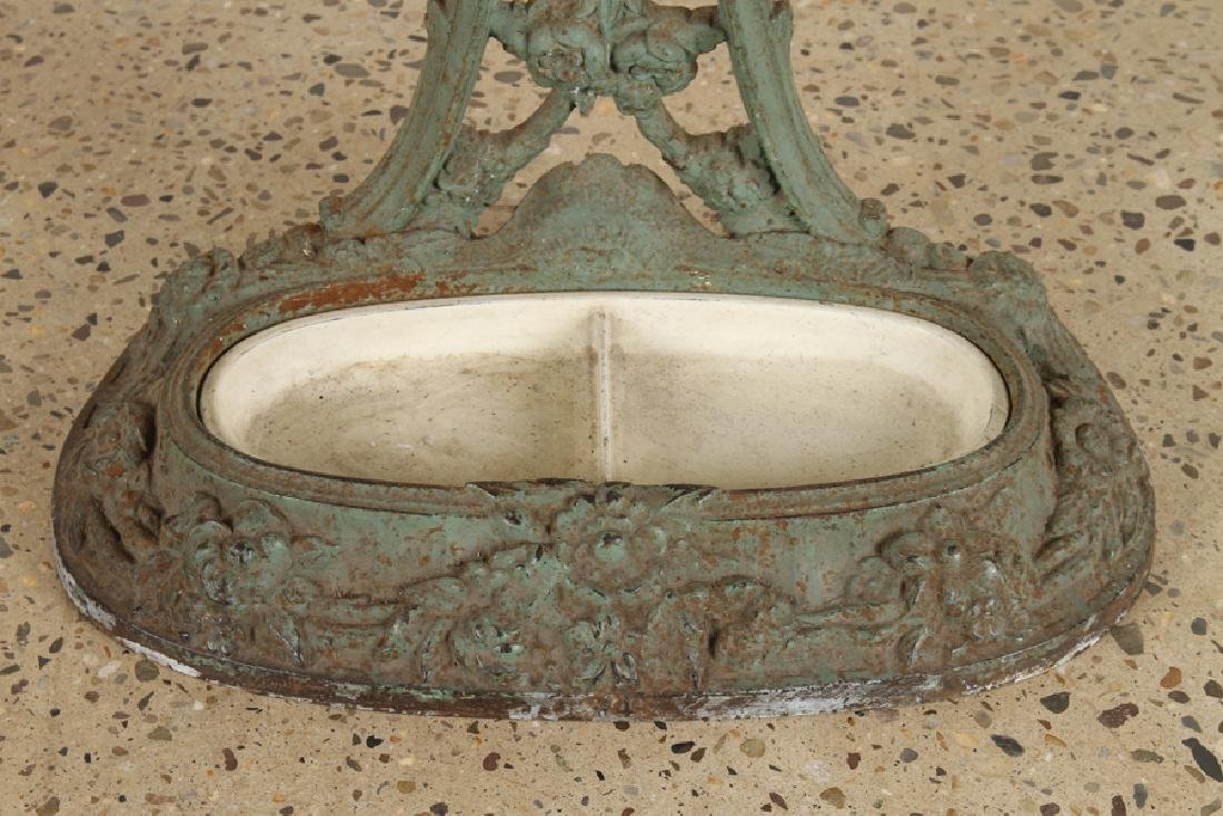 FRENCH CAST IRON COAT RACK UMBRELLA STAND C.1870 - 5