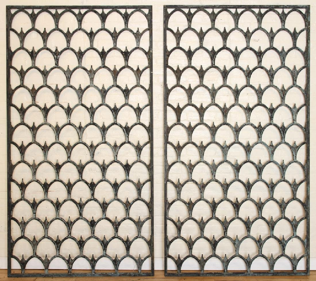 PAIR OF BRONZE PANELS CIRCA 1900