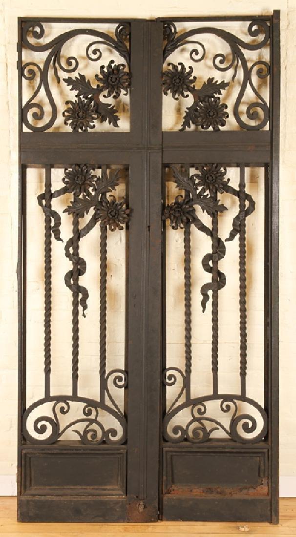 PAIR ITALIAN WROUGHT IRON GATES CIRCA 1900
