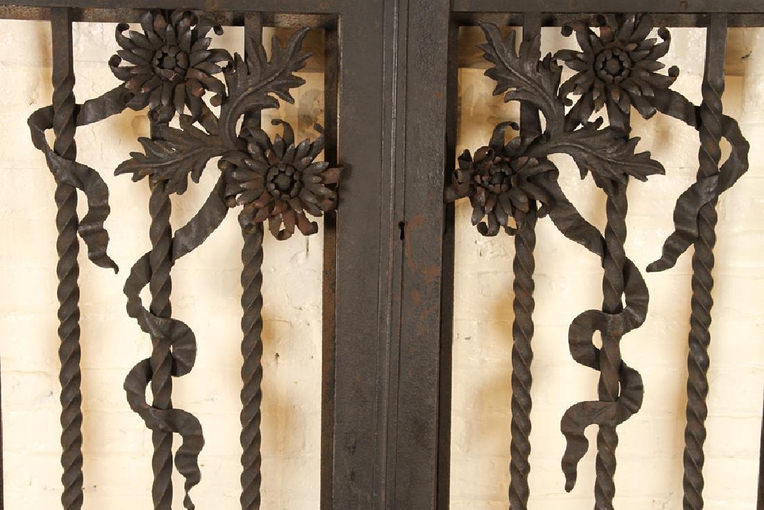 PAIR ITALIAN WROUGHT IRON GATES CIRCA 1900 - 3