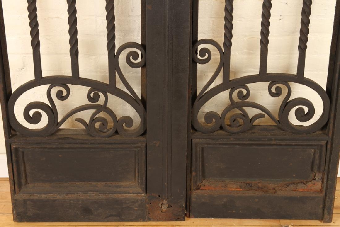 PAIR ITALIAN WROUGHT IRON GATES CIRCA 1900 - 4