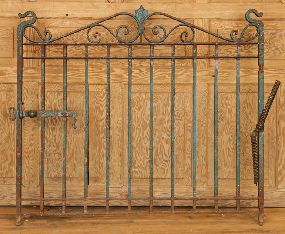 SINGLE WROUGHT IRON GATE CIRCA 1900