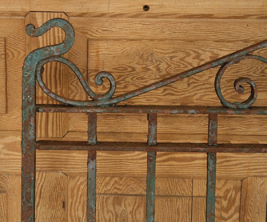 SINGLE WROUGHT IRON GATE CIRCA 1900 - 3