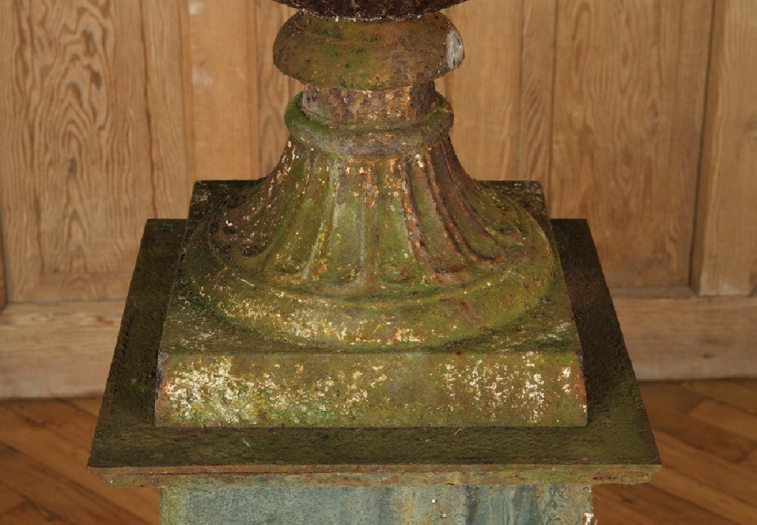 CAST IRON CAMPAGNA FORM CAST IRON URN C.1900 - 4
