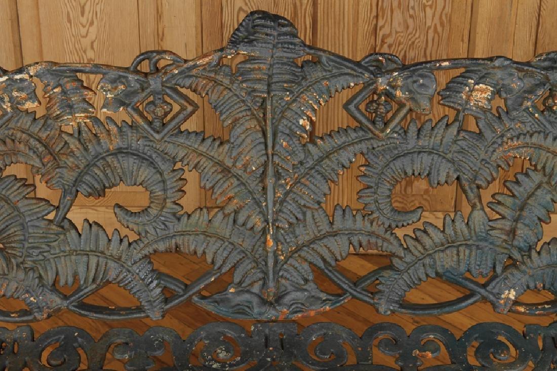 CAST IRON FERN PATTERN BENCH CIRCA 1900 - 3
