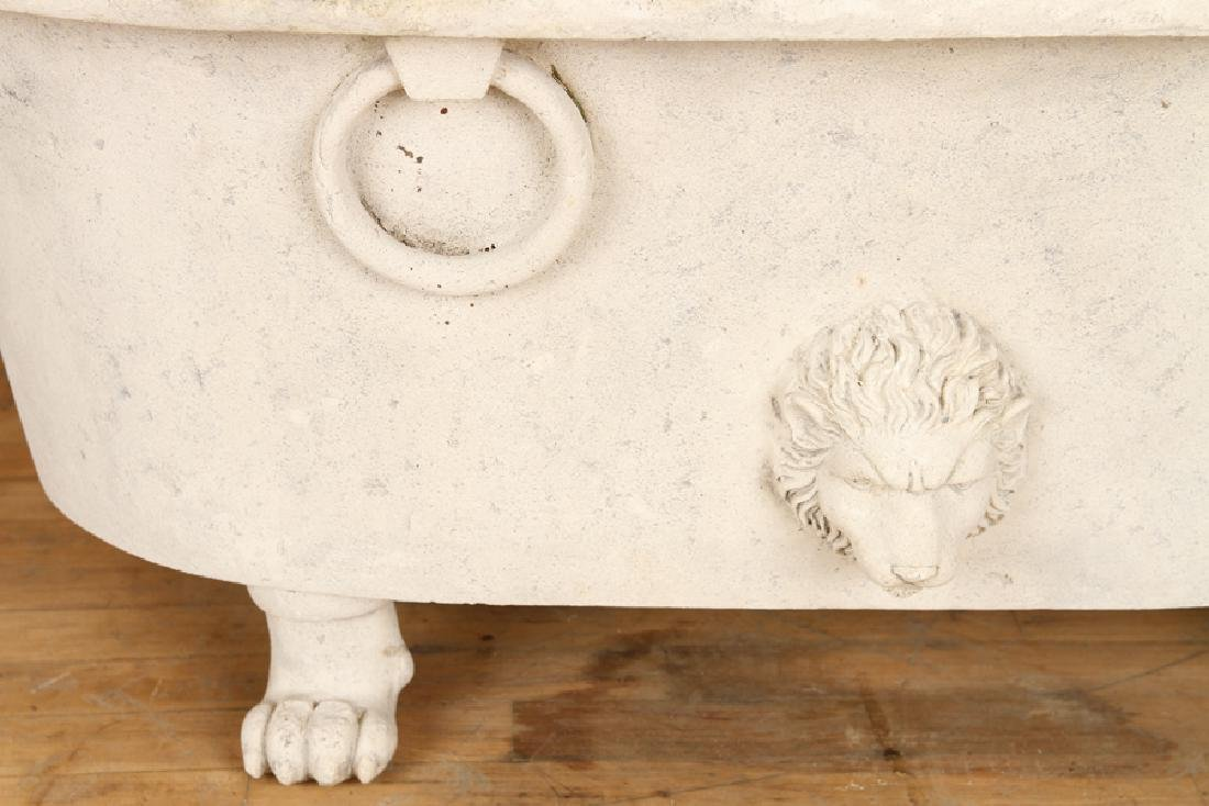 CAST RESIN REPLICA OF ANCIENT ROMAN MARBLE TUB - 4