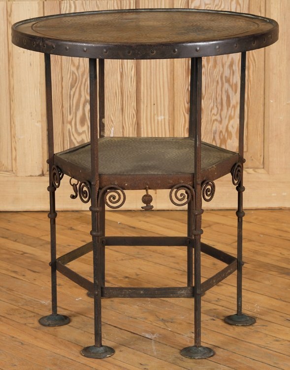 BRONZE OCCASIONAL TABLE SECESSIONIST STYLE C.1920