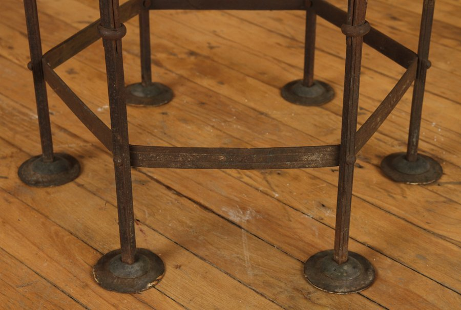 BRONZE OCCASIONAL TABLE SECESSIONIST STYLE C.1920 - 4