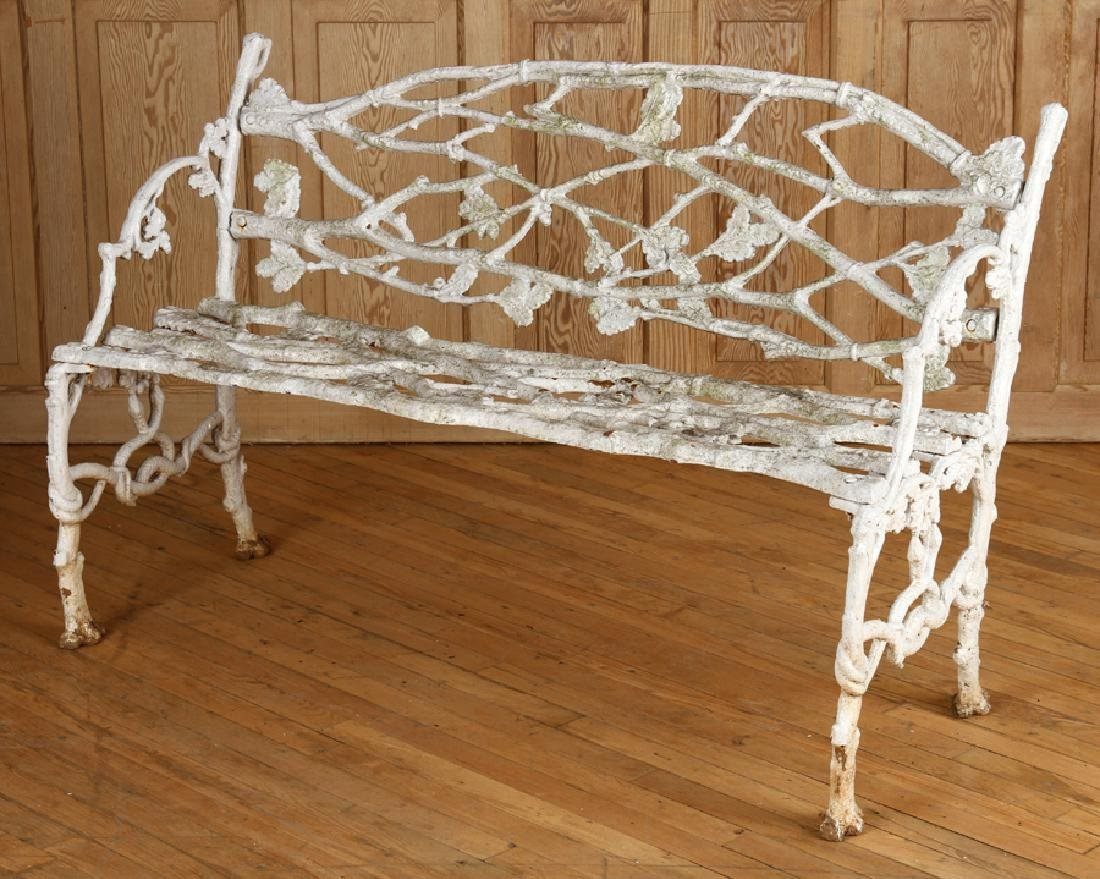 CAST IRON TWIG FORM BENCH CIRCA 1900