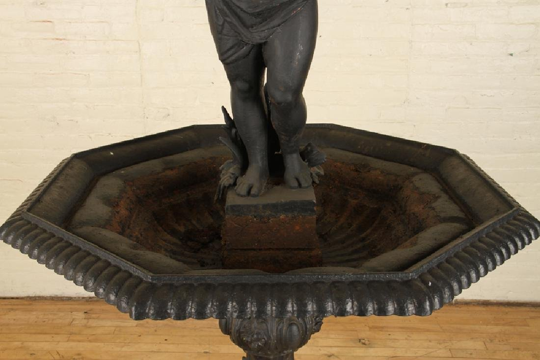CAST IRON TWO TIER FIGURAL FOUNTAIN - 3