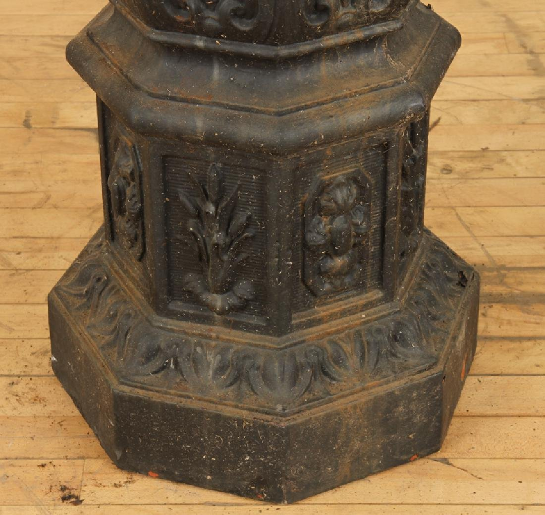 CAST IRON TWO TIER FIGURAL FOUNTAIN - 5