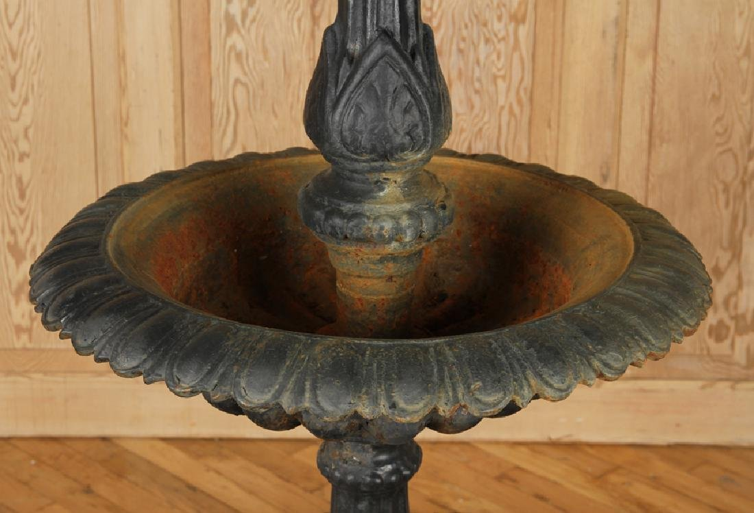TIERED CAST IRON FOUNTAIN DECORATED BOTTOM PAN - 3