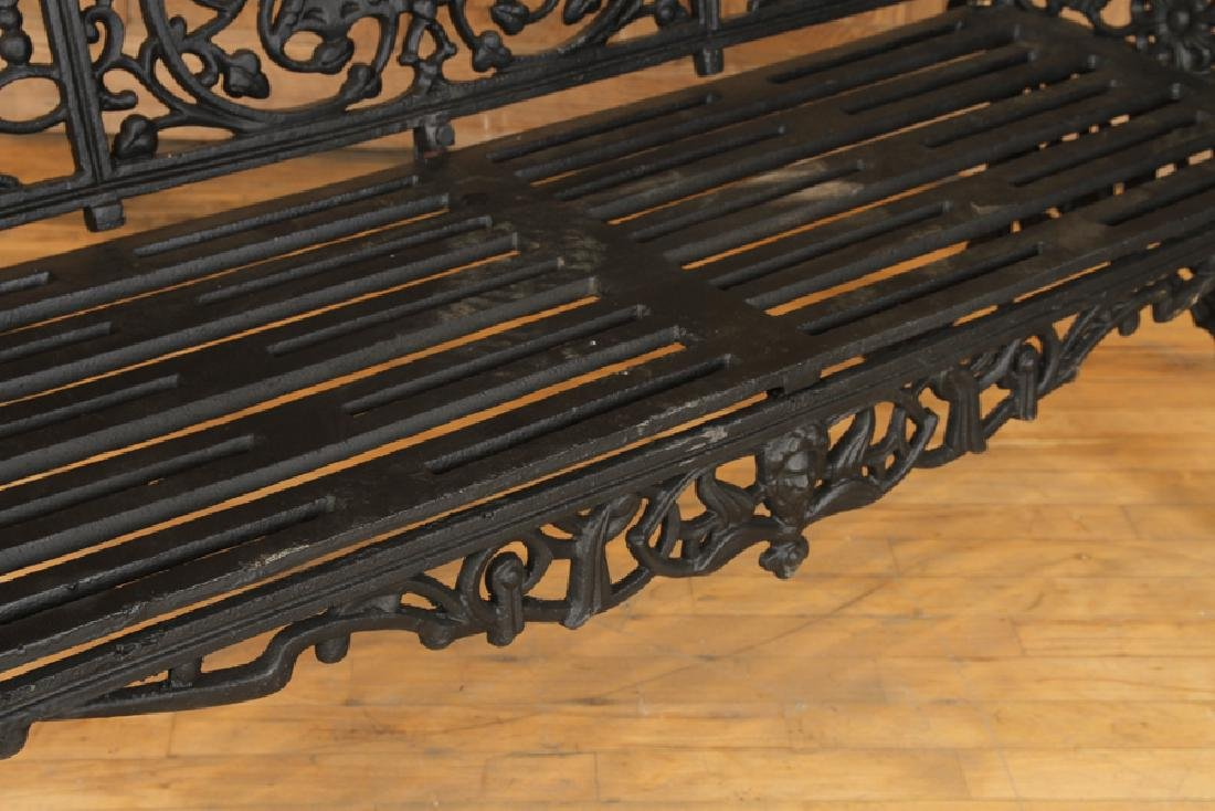 CAST IRON GARDEN BENCH MANNER OF COLEBROOKEDALE - 4
