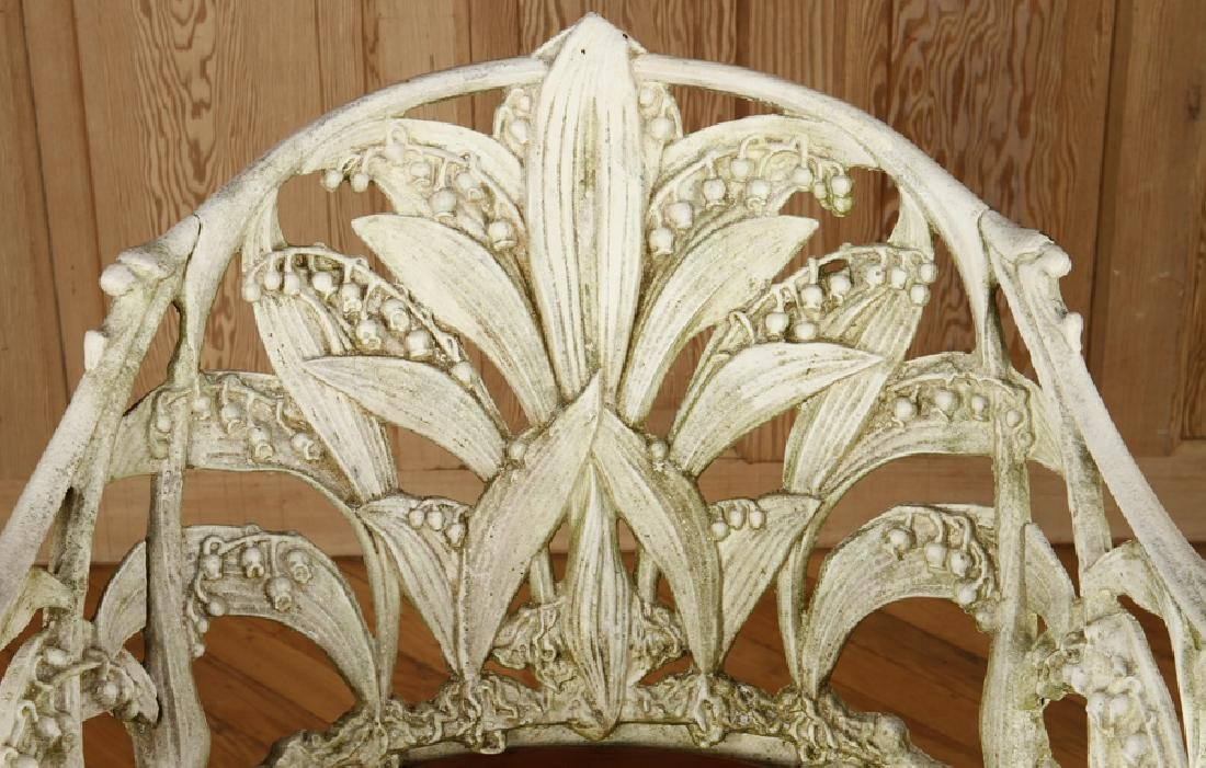 CAST IRON GARDEN CHAIR SIGNED COLEBROOKDALE 1985 - 3