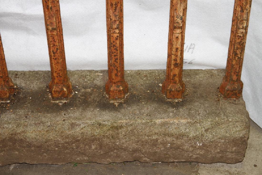 CAST IRON GOTHIC FENCE CIRCA 1860 - 3