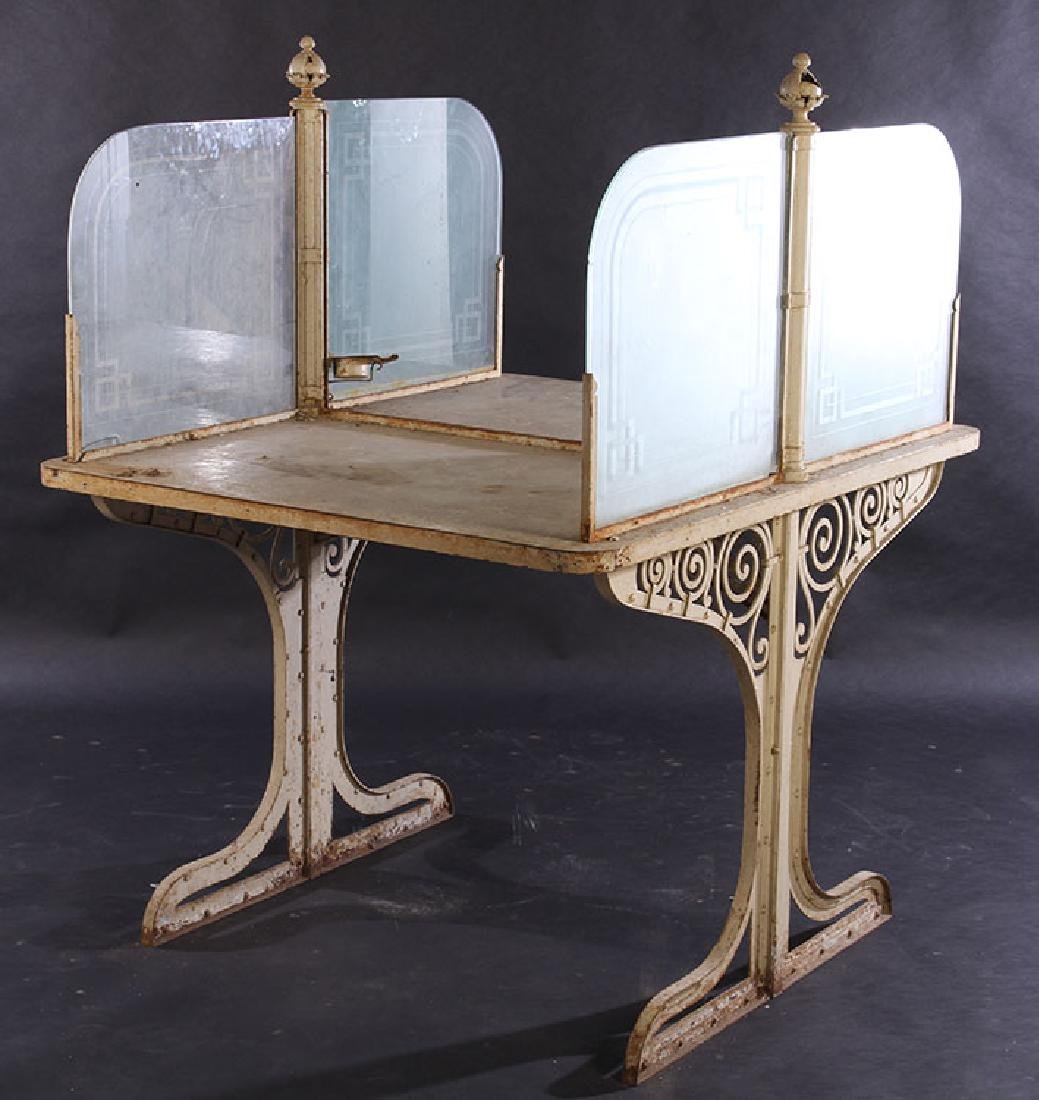 FRENCH WROUGHT IRON POTTING TABLE 1910