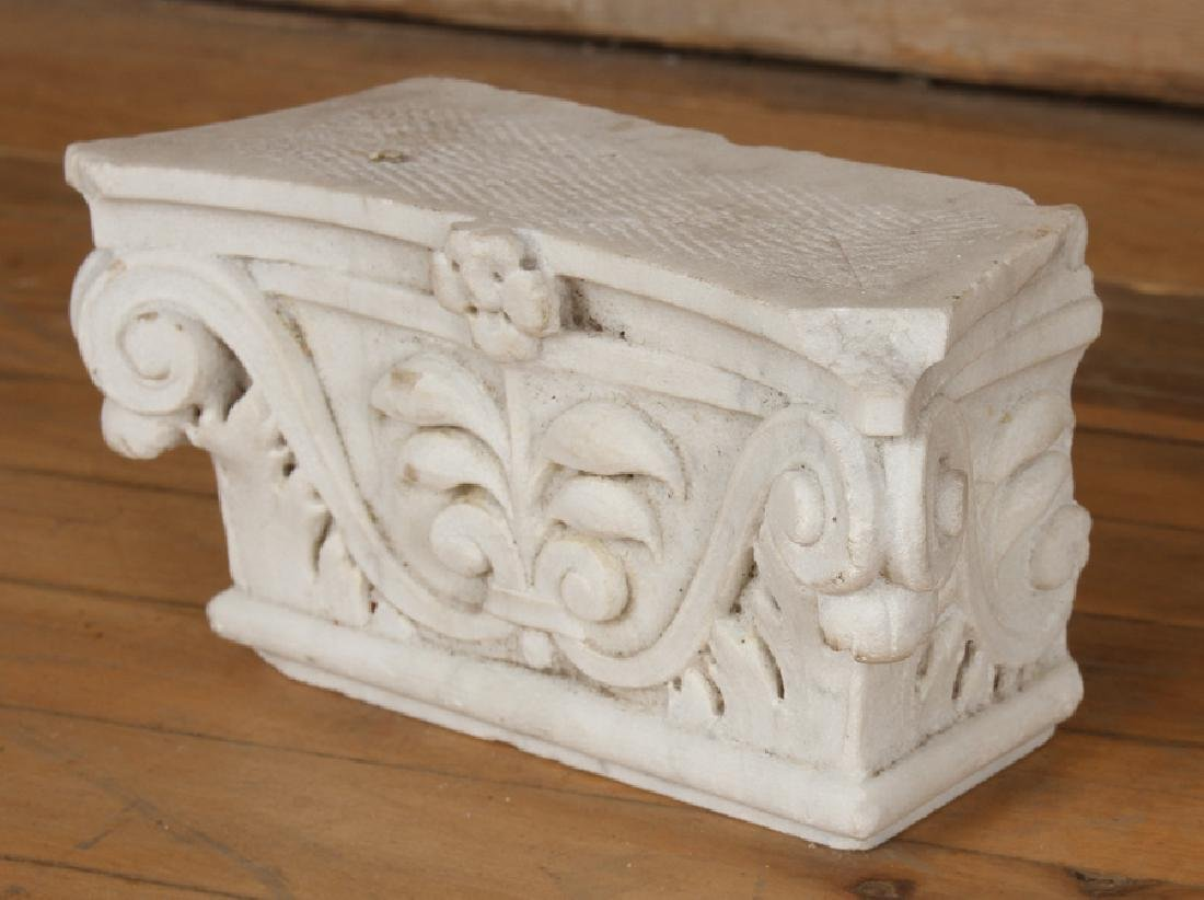 6 PIECE LOT OF CARVED MARBLE ELEMENTS C.1900 - 4
