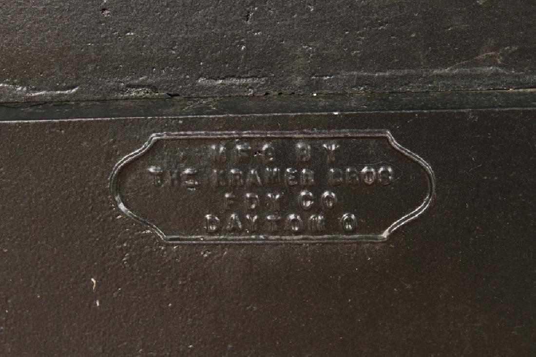 PAIR CAST IRON GARDEN RUNS SIGNED KRAMER BROTHERS - 6