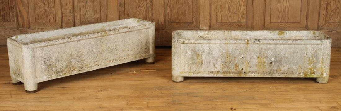 PAIR FRENCH CAST STONE PLANTERS BY CHANAL PARIS