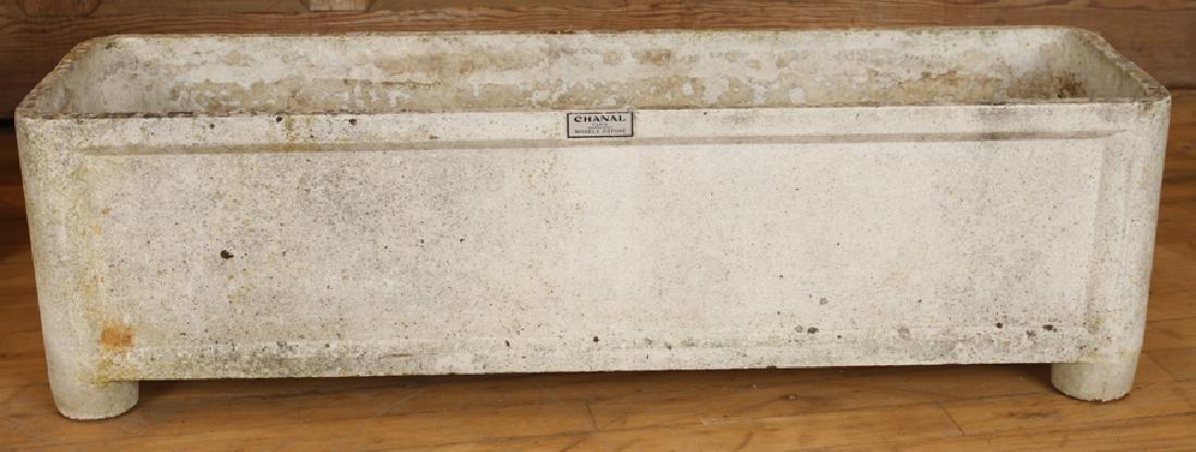 PAIR FRENCH CAST STONE PLANTERS CHANAL PARIS - 2