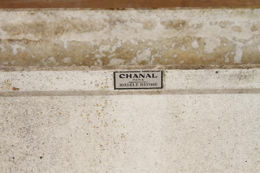 PAIR FRENCH CAST STONE PLANTERS CHANAL PARIS - 5
