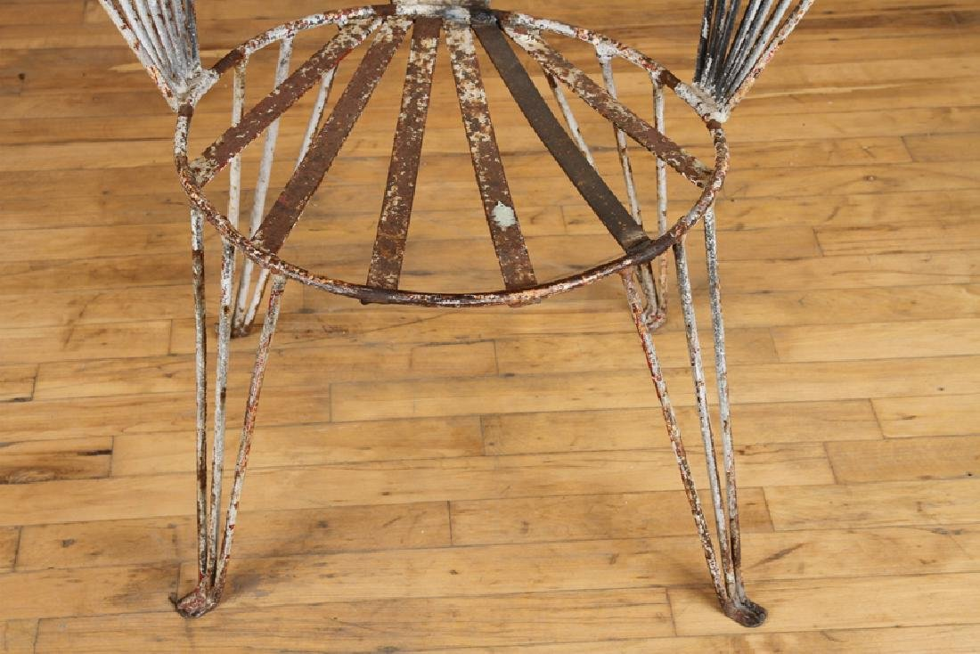 SET 4 ART DECO WROUGHT IRON GARDEN CHAIRS C.1930 - 6