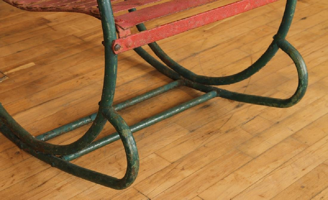 FUN PAIR OF IRON ROCKING CHAIRS CIRCA 1950 - 5