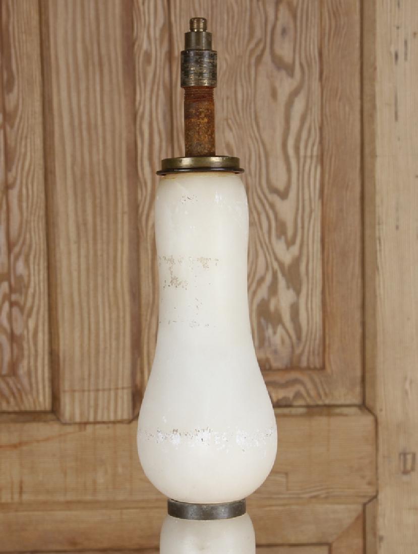 ITALIAN ALABASTER FLOOR LAMP WITH BRONZE MOUNTS - 2