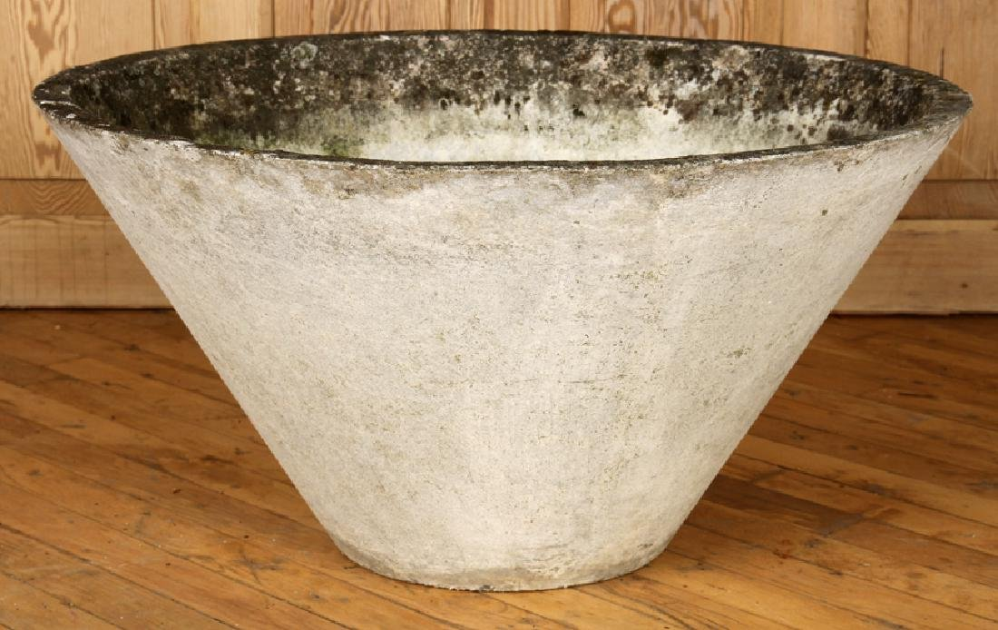 ROMAN STYLE CAST STONE GARDEN URN BY WILLY GUHL