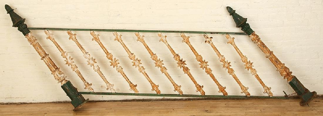PAIR CAST IRON RAILING SECTIONS C.1900 - 2
