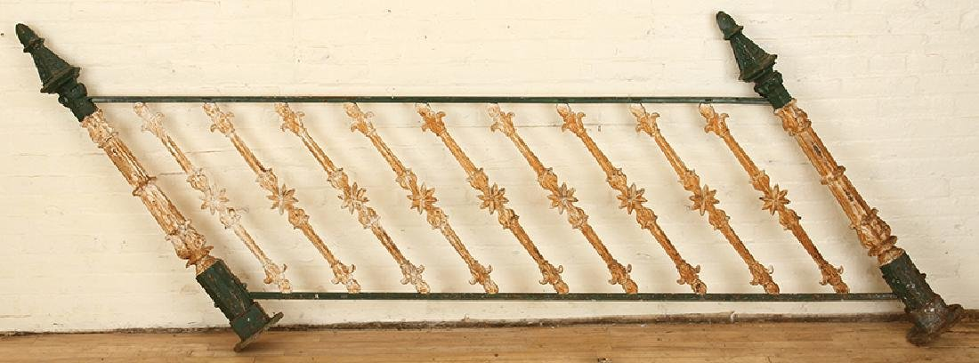 PAIR CAST IRON RAILING SECTIONS C.1900 - 3