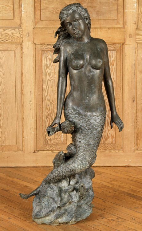 BRONZE FOUNTAIN IN THE FORM OF A MERMAID
